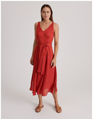 Basque V Neck Maxi Dress