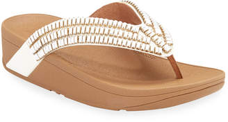 FitFlop Surfa Beaded Thong Platform Sandals
