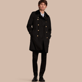 Burberry Mink Collar Trench Coat with Detachable Warmer