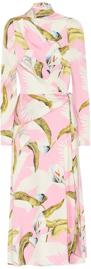 Temperley London Theodora stretch-silk midi dress