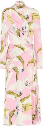 Temperley London Theodora stretch-silk midi dress