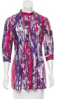 Piazza Sempione Abstract Print Button-Up Top