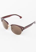 Missy Empire Roison Brown Cat Eye Half Frame Sunglasses