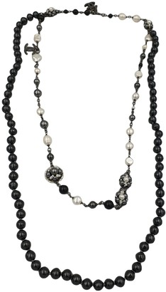 Chanel Anthracite Steel Long necklaces
