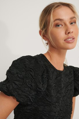 NA-KD Puff Sleeve Structured Organza Top