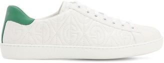 Gucci New Ace G Rhombus Leather Sneakers
