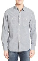Grayers Men's 'Workshirt' Trim Fit Stripe Sport Shirt