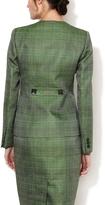 Carolina Herrera Woven Inverted Lapel Jacket