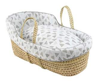 Clair De Lune Sparkling Muslin High Top Palm Moses Basket
