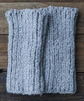 Lemon Legwear Women's Leg Warmers Flannel - Gray Arm Warmers - Women
