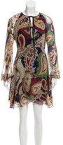 Chloé 2015 Abstract Print Silk Dress