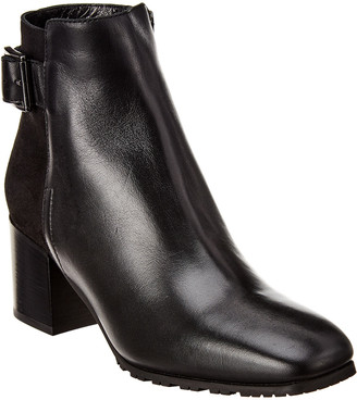 Aquatalia Charlene Weatherproof Leather & Suede Bootie