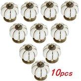 WP-TT® Vintage Ceramic Handle Pull Knobs Cabinet Pumpkin Door Cupboard Drawer Locker,10pcs (White)