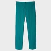 Paul Smith Men's Slim-Fit Green Lightweight Cotton Chinos