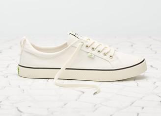 Cariuma OCA Low Stripe White Canvas Sneaker Women