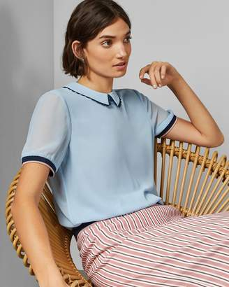 Ted Baker ZAHAR Scallop trim collared top