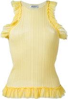 Dondup ruffle trim tank - women - Cotton/Polyamide - S