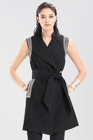 Josie Natori Double Face Solid Cotton Vest