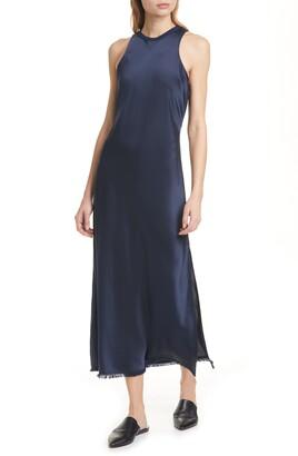 Frame Washable Bias Cut Silk Satin Dress