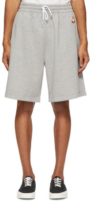 MAISON KITSUNÉ Grey Lotus Fox Jog Shorts
