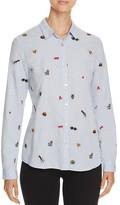 Scotch & Soda Embroidered Cotton Shirt
