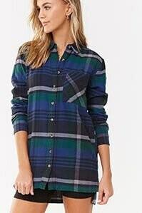 Forever 21 Flannel Shirt Dress