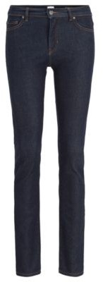 BOSS Slim-fit jeans in deep-blue denim