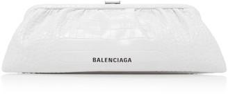 Balenciaga Cloud Croc-Effect Patent Clutch