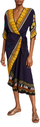 Etro Garden of Eden Draped Side Dress