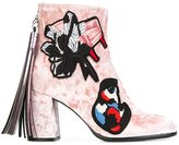 MSGM chunky heel ankle boots