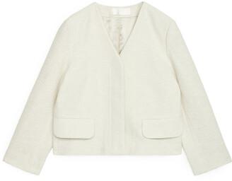Arket Cropped Boucle Jacket