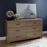 South Shore Furniture Fusion 6-Drawer Double Dresser