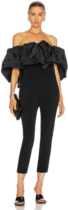 Cushnie Strapless Cropped Fitted Jumpsuit in Black | FWRD