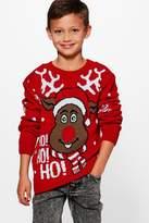 Boohoo Boys Rudolph Christmas Jumper
