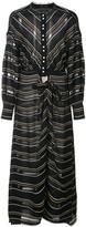 Proenza Schouler Crepe Striped Long Sleeve Dress