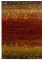 LNR Home Adana Cherry/ Light Brown Abstract Rug (7'9 x 9'9)