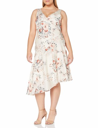 Gina Bacconi Women's Dolores Printed Satin Dress Cocktail