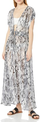 Calvin Klein Women's Tie Front Maxi Cover Up