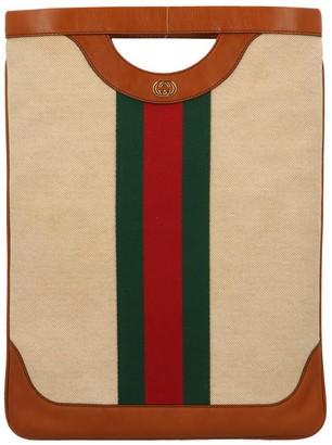 Gucci Large Vintage Canvas Tote Bag