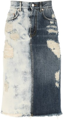 Givenchy Distressed Denim Skirt