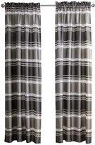 "ChezMax Striping Pattern Drapery Decorative Semi Sheer Curtain Panels Grommet One Panel 52"" W x 84"" L Grey"