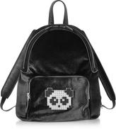 Les Petits Joueurs Black Velvet Peter Metal Panda Backpack