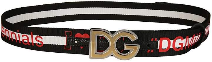 Dolce & Gabbana Logo Band Belt