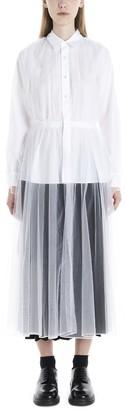 Noir Kei Ninomiya Tulle Layered Long Shirt