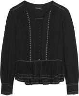 Isabel Marant Randal embellished cotton-gauze blouse