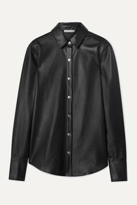 Alexander Wang Faux Leather Shirt - Black