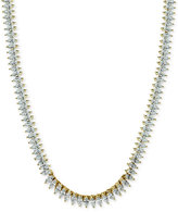 Giani Bernini Cubic Zirconia Marquise Collar Necklace in Sterling Silver or 18k Gold-Plated Sterling Silver, Only at Macy's