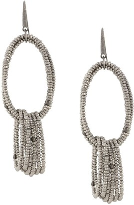 Brunello Cucinelli Beaded Hoop Earrings