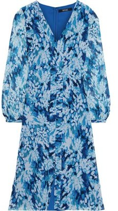Badgley Mischka Printed Chiffon Dress