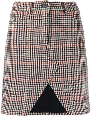 Zadig & Voltaire Houndstooth Open-Front Skirt